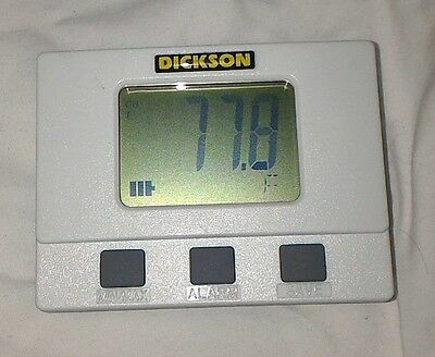 Dickson Display Temperature Data Logger SM300 Tested Thermistor LCD Display