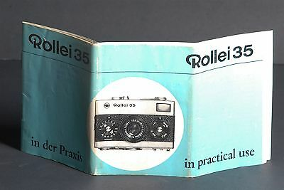Rollei 35 In Practical Use 1968 Camera Instruction Book / Guide / Manual