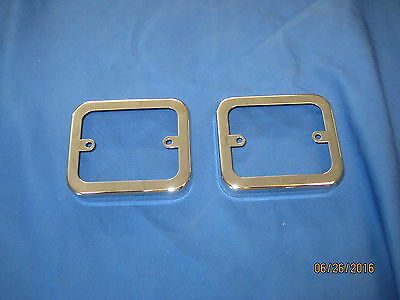 MG MGB & MIDGET PAIR REVERSING LAMP CHROME RIMS ALSO JAGUAR E TYPE reverse v2c