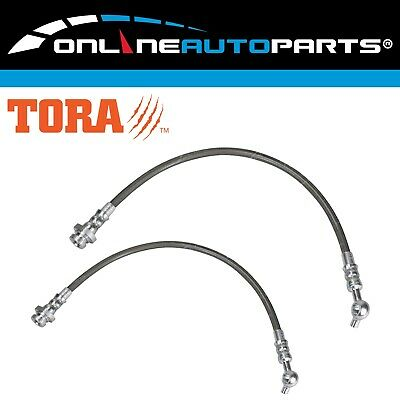 Front Left + Right Braided Brake Line Hose Set fit Patrol GQ Y60 + Ford Maverick