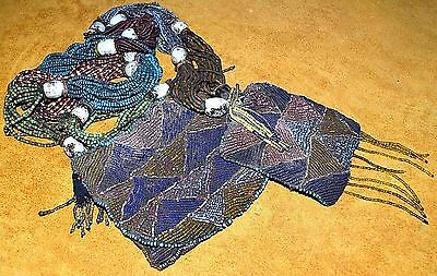 Big Antique Yoruba Diviner's Protection Odigba Ifa Necklace Beads Nigeria Africa