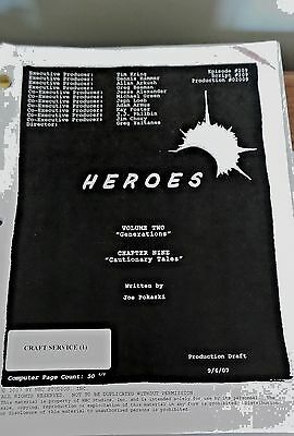 Heroes Tv Series Show Script Episode Generations