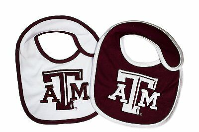 Texas A&M Aggies Infant Baby Bibs 2 Pack