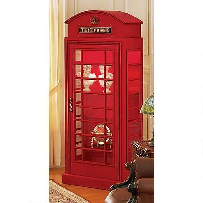 British Red Public Telephone Box Phone Booth Replica Collector