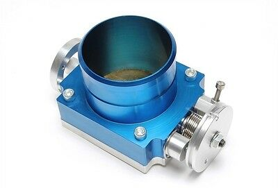 Aluminium Butterfly valve 3 1/8in Blue with Adapter board to screw in / welding