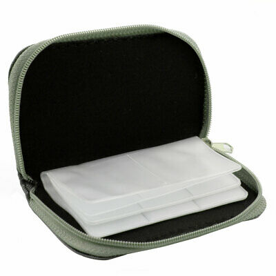 Nylon 22 Slots Storage Carrying Pouch Bag Case Gray for CF Micro SD Memory Card