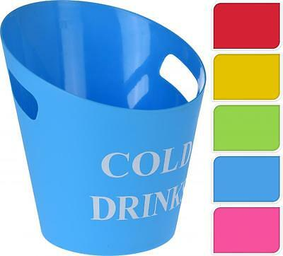 Cold Drinks Plastic Ice Bucket Cooler for Wine Beer Champagne Party BBQ