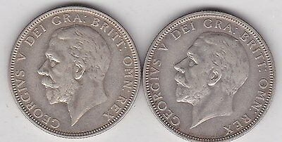 1933 & 1936 George V Florins In Very Fine Condition