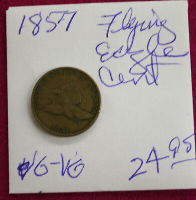 1857 Flying Eagle cent VERY GOOD-VERY GOOD