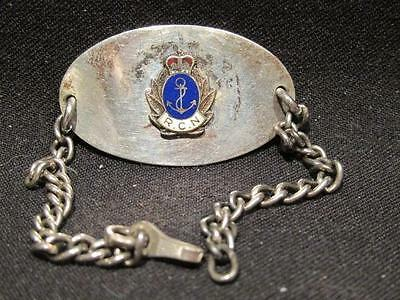 Royal Canadian Navy Post-WWII Sterling Sweetheart Bracelet Queen's Crown RCN