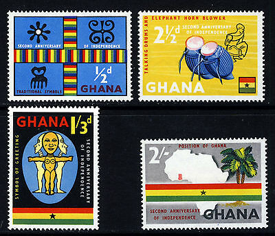 GHANA 1959 2nd. Anniversary of Independence Set SG 207 to SG 210 MINT