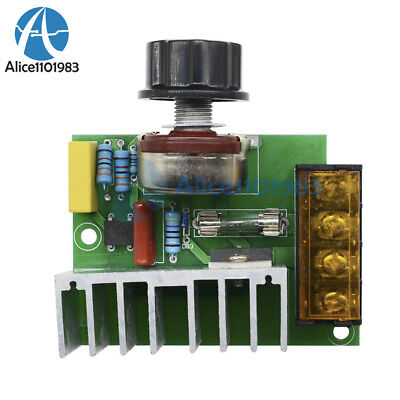 4000W 220V AC SCR Voltage Regulator Dimmer Thermostat Electric Motor Controller