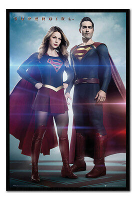 Framed Supergirl Duo Film Movie Poster New