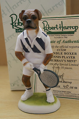 Murrays Mint Cc52M Tennis Player Brindle Boxer 50 Edition Robert Harrop Mib