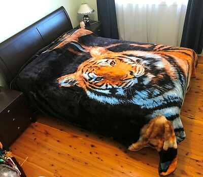 Thick Winter Queen Size Mink Blanket Quilt 200cm x 240cm - Tiger