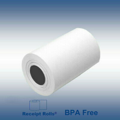"2 1/4"" x 50' Thermal Credit Card Paper Rolls 50 RLS/CS"