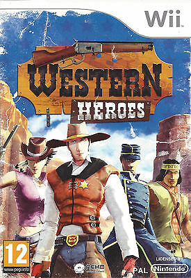 WESTERN HEROES for Nintendo Wii - with box & manual - PAL