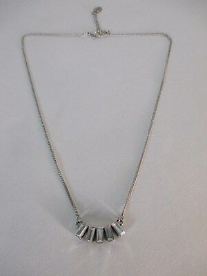 American Eagle Oufitters AEO Dainty Rectangle Crystal Necklace NWT $15.50 Set 2