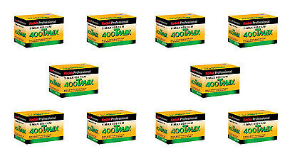 10 Rolls Kodak TMY-36 TMAX 400 Black and White Negative Print Film FRESH DATE