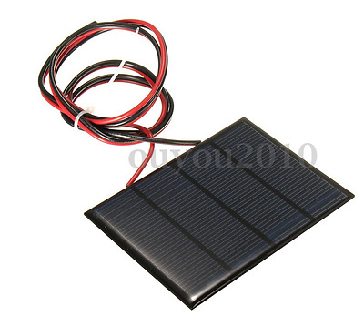 12V 1.5W Mini Solar Panel Charger With 3-FT Wire Leads