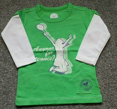 Wimbledon Championships green girls long sleeve Top. Size 2-3 years. BRAND NEW