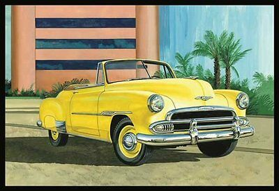 1951 Chevy Convertible 1/25 scale skill 2 AMT model kit#1041