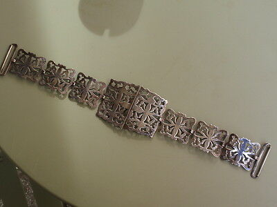 Vintage Silver Plated Epns Front Part Nurses Belt & Buckle