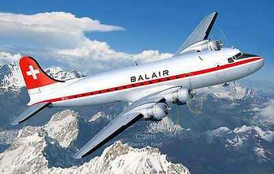 DC-4 Balair Iceland Airway 1/72 scale skill 5 Revell plastic model kit#4947