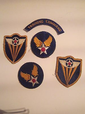 WW2 Army Air corp patch lot of 5