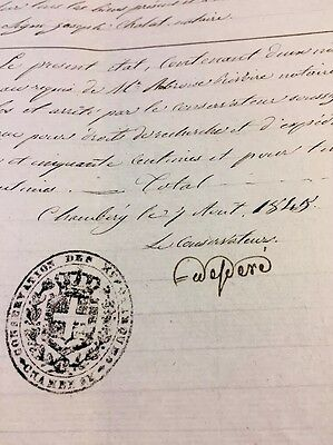 Very Old Document 1845
