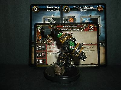 W.O.W. Miniature, Warchief Thrall - with stat card and 2 game cards