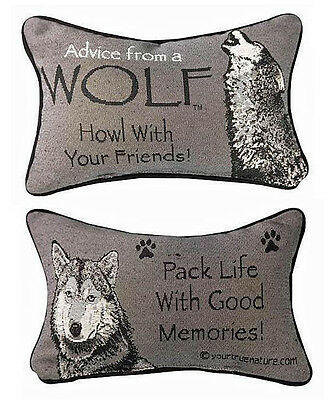 Decorative Pillows - Advice From A Wolf Reversible Pillow
