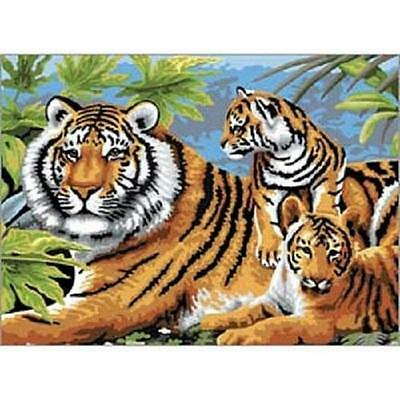 Royal & Langnickel - PJL5 - Tiger and Cubs, painting by numbers