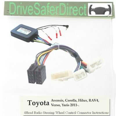 ANAlogz-SWC-7651-06 Steering Wheel Control for Clarion Radio/Toyota Verso 11-