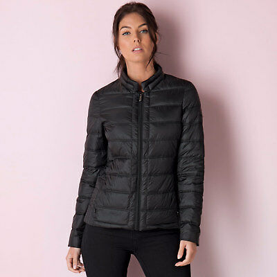 Womens Elle Bailey Down Jacket In Black From Get The Label