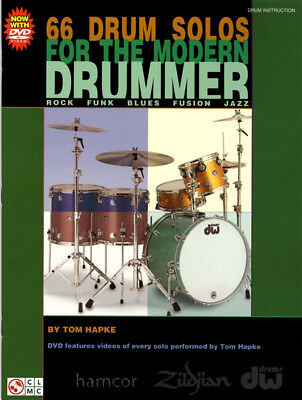 66 Drum Solos for the Modern Drummer Book/DVD Set by Tom Hapke