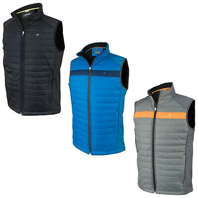 2017 Benross Golf Mens Pro Shell Gilet - New Full Zip Bodywarmer Padded Top Vest