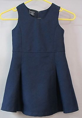 GEORGE Little Girl's Navy Pleat Jumper Size 6 EXC