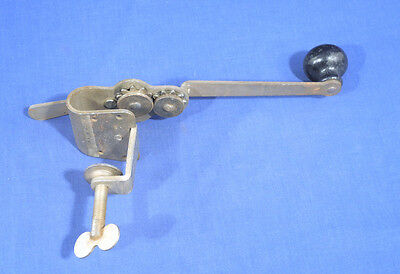 Rare Vtg Antique Table Mount Hand Can Opener Lemay Smith Walker Inc Rochester NY