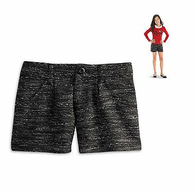 American Girl CL LE GRACES CITY SHORTS FOR GIRLS SIZE 12 MEDIUM Tweed Shorts NEW