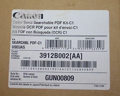 GENUINE CANON 3912B002 Colour Send Searchable PDF Kit-C1 for imageRUNNER **NEW**