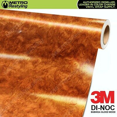3M DI-NOC BUBINGA GLOSS WOOD Grain Vinyl Wrap Sheet Film Sticker Roll Adhesive