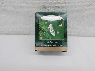 2001 Hallmark Holiday Shoe Miniature Christmas Ornament IOB T37