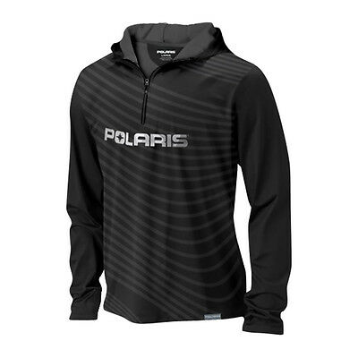 OEM Polaris Men's Black Slope Hoodie Hoody Sweatshirt Sizes S-M