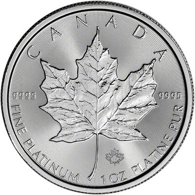 2017 Canada Platinum Maple Leaf - 1 oz - $50 - BU
