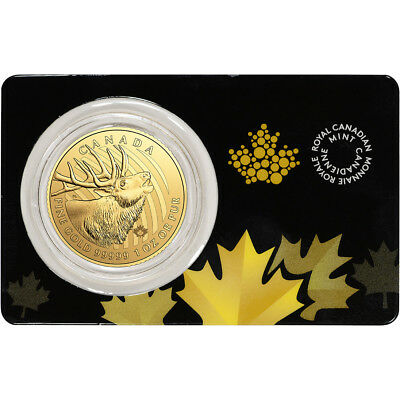 2017 Canada Gold Elk $200 - 1 oz - BU in Sealed Assay - .99999 Fine