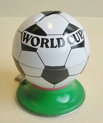Money box Football Made in Germany, Plate,. Tin toy