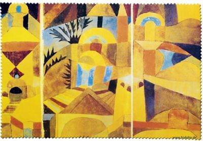 Paul Klee: Temple Garden - Glasses Cleaning Cloth Microfibre