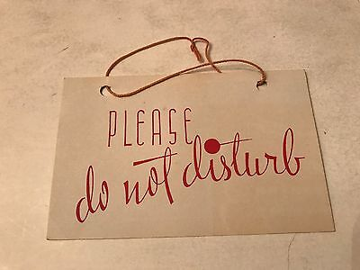 VTG 1941 Hotel Do Not Disturb Door Tag Hull Hotels