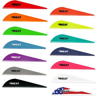 Bohning Heat Vanes 100pk - Low profile 3D archery & bowhunting fletching